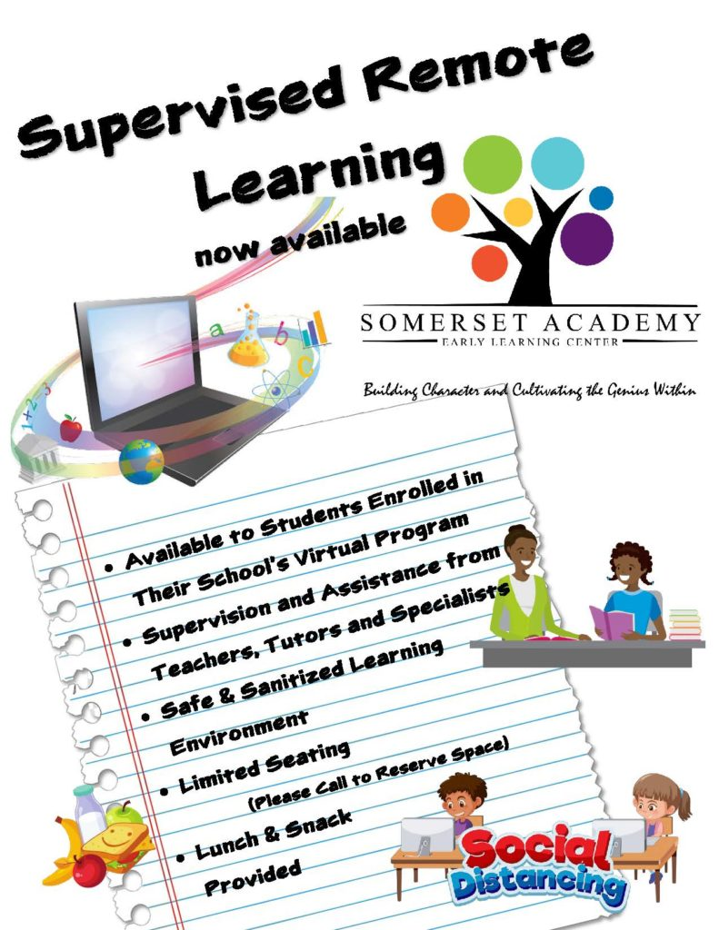 Supervised remote learning at Somerset Academy. Sign up today!